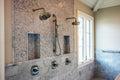 Modern home interior bathroom showers Royalty Free Stock Photo