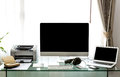 Modern home office with computer Royalty Free Stock Photo