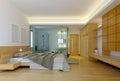 Modern hotel bedroom Royalty Free Stock Photo