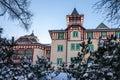 Modern hotel building, Slovakia ski resort. Royalty Free Stock Photo