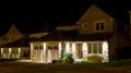 Modern house at night Royalty Free Stock Photo