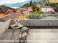 Modern house, outdoor, balcony Royalty Free Stock Photo