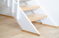 Modern indoor stairs wooden staircase with design Royalty Free Stock Image