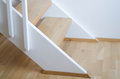 Modern indoor stairs wooden staircase with design Royalty Free Stock Photos