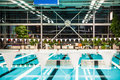 Modern indoor swimming pool Stock Photo