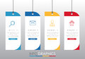 Modern Info-graphic Template for Business with four steps multi-Color design, labels design, Vector info-graphic element, Flat sty