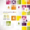 Modern infographic template for business design with background tiles Stock Image