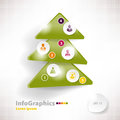 Modern infographic template for business design with christmas tree Royalty Free Stock Images