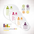 Modern infographic template for business design with speech balo baloon Stock Photography