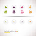 Modern infographic template for business design with web design menu Royalty Free Stock Photos
