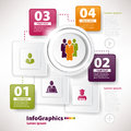 Modern infographic template for business team work Stock Photo