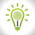 Modern infographic template. Light bulb with Green Stock Image