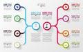 Modern infographics. Business plan design template. Vector