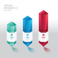 Modern infographics design crystal options banner. Vector