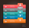 Modern infographics element number template vector illustration can be used for workflow layout diagram business step options Royalty Free Stock Photo