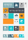 Modern infographics interface information boxes and tabs vector illustration Royalty Free Stock Photography