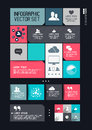Modern infographics interface information boxes and tabs vector illustration Stock Photography