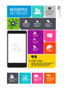 Modern infographics interface information boxes and tabs vector illustration Stock Photo