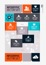 Modern infographics interface information boxes and tabs vector illustration Royalty Free Stock Photos
