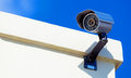Modern infrarred day night camera with a blue sky Royalty Free Stock Photos