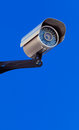 Modern infrarred day night camera with a blue sky Stock Photography