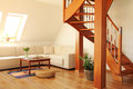 Modern inre loft för design Arkivbild