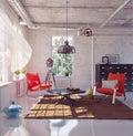 Modern inre loft för design Royaltyfria Foton