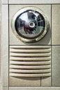 Modern intercom loudspeaker with camera Stock Photography