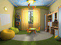 Modern interior of the childroom Stock Photography