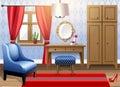 Modern interior design big livingroom Stock Photo
