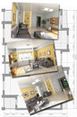 Modern interior image set Stock Photography