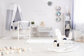 Modern interior for little sailor Royalty Free Stock Photo