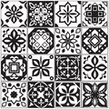 Modern interior spanish and turkish tiles. Kitchen floral vector patterns