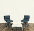 Modern interior table and chairs Stock Photo