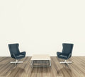 Modern interior table and chairs Royalty Free Stock Image