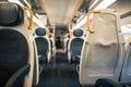 A modern interior train wagon Royalty Free Stock Photo