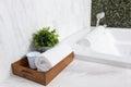 Modern jacuzzi bathtub Royalty Free Stock Photo