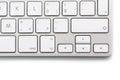Modern keybord on white Royalty Free Stock Photo