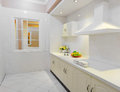 Modern kitchen clean bright with decoration Stock Image