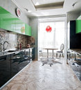 Modern kitchen interior Royalty Free Stock Image
