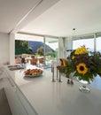 Modern kitchen of a villa Royalty Free Stock Photo
