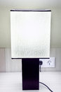 Modern   lamp on table in hotel Royalty Free Stock Photo