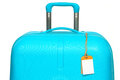 The modern large suitcase on white background Royalty Free Stock Photo