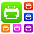 Modern laser printer set collection