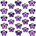 Modern lavender butterflies vector