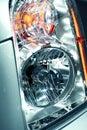 Modern Lens Car Headlight Stock Image