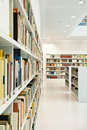 Modern library inside in natural light Royalty Free Stock Photo