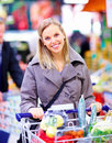 Modern Lifestyle - Happy busy woman shopping Royalty Free Stock Images