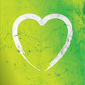 Modern lime grunge heart Stock Photography