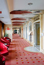 Modern living room hall in a cruise ship during a cruise in the adriatic sea Royalty Free Stock Image